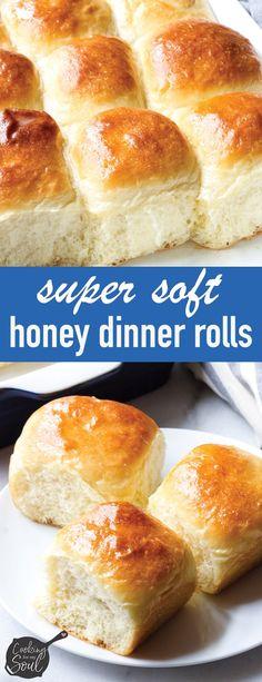 Quick Dinner Rolls, Quick Rolls, No Yeast Dinner Rolls, Fluffy Dinner Rolls, Dinner Rolls Recipe, Honey Bread, Honey Butter, Honey Rolls Recipe, Roll Recipe