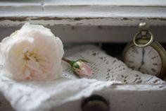 romantic lace doily flower white clock pocket watch