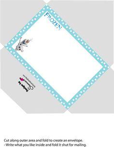 Envelope, Frozen, Invitations - Free Printable Ideas from Family Shoppingbag.com