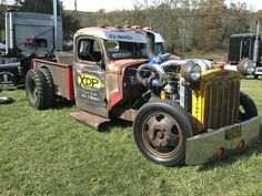 Twin turbo rat rod truck