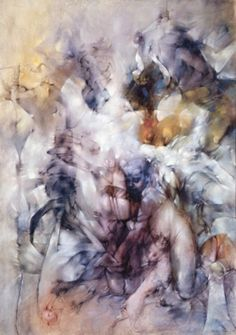 """""""Insomnies"""" or """"Insomnias"""" -- 1957 -- Dorothea Tanning -- American -- Oil on canvas -- Moderna Museet, Stockholm. Max Ernst, Caravaggio, Peggy Guggenheim, Photography Projects, Art Photography, Dorothea Tanning, Artist Birthday, Atelier D Art, Magritte"""