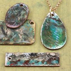 Enameled pendants