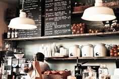 Cafe - With piled up back wall