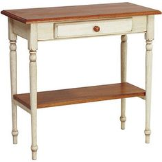 Country Cottage Hall Table, White-Wash Patina Finish...perfect for the front hall!!