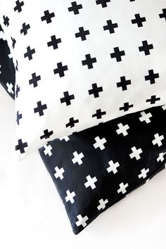 Via Envelop | Plus Minus Pillow by Bildschœn | Black and White