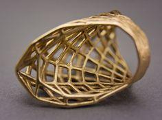 Ring 002 - 3d printed Raw Bronze