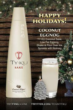 Holiday Saké! Natural Flavors, Happy Holidays, Sprinkles, Vodka, Alcoholic Drinks, Coconut, Wine, Bottle, Food