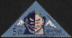 Bhutan #84D - Abominable Snowman - Used- (Bh) - bidStart (item 24176159 in Stamps, Asia, Bhutan)