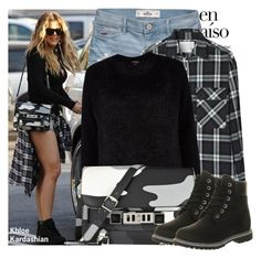"""Khloe Kardashian"" by kusja ❤ liked on Polyvore featuring moda, Edition, Hollister Co., R13, River Island, Proenza Schouler, Timberland, GetTheLook, celebstyle i khloekardashian"