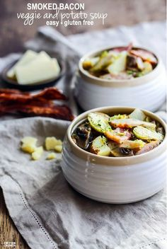 Stay in season with this fall vegatable soup. Don't forget the bacon. #CrockPot