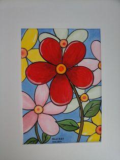 Flor Margarita - acrilico