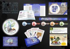 Logo - Illustration de carte - Packaging - Carte de visite - Catalogue - Etiquette - Emailing - Bannière et icônes web pour la société RVF