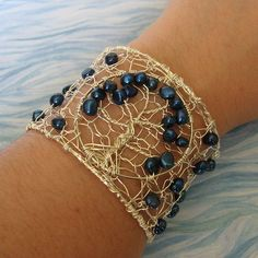 Tree of life wire wrap bracelet.