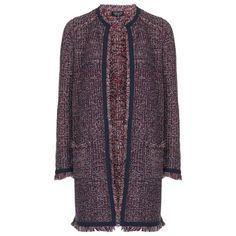 Tweedy Fringe Jacket by Topshop