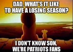 Hehe, that is good! And that is totally what life is like for the Pats. B)