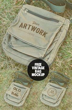 Free Vintage Bag Mockup PSD