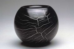 """Rüdiger Marquarding, Germany 2002 ITE Year Object #103 Spider's Web, 2000 Ebony, silver alloy 5 1/4 x 6 1/4""""13.3 x 16 cm Robert M. and Lillian Montalto Bohlen Collection"""