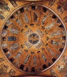 Cúpula con mosaicos que representa la ascensión, Basílica San Marcos , Venecia