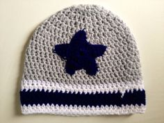Crochet Baby Dallas Cowboys Beanie by KARDsandGifts on Etsy, $9.00