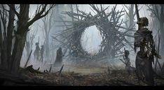 Evocation by Alexander Dudar Horror CGSociety Fantasy Concept Art, Fantasy Rpg, Dark Fantasy Art, Medieval Fantasy, Fantasy Artwork, Fantasy World, Dark Art, Arte Horror, Horror Art