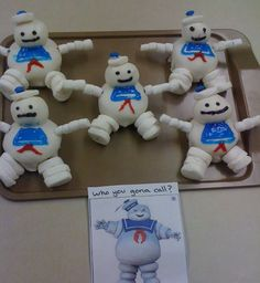 Stay Puft Marshmallow Man Cupcakes