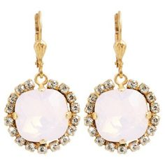 Check out this item at One Kings Lane! Monte Carlo Crystal Earrings, Rosewater