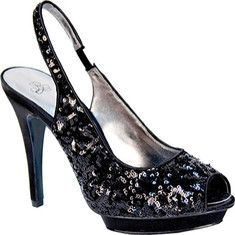 Gleem is a platform slingback with a stiletto heel and peep toe style.$42.45