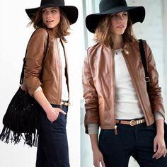 Veste en cuir femme printemps 2015