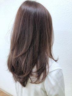 ピンクブラウン*ハイレイヤー:L034474317|ルディー バイ ヘアーポケット(rudii by HAIR POCKET)のヘアカタログ|ホットペッパービューティー Asian Hair Medium Length, Medium Length Hair With Layers Straight, Straight Layered Hair, Medium Layered Hair, Medium Hair Cuts, Long Hair Cuts, Medium Hair Styles, Long Asian Hair, Asian Brown Hair