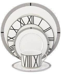 Mikasa Dinnerware Bone China 5-Pc. Winslet Black Place Setting - Fine China - Dining & Entertaining - Macy's Bridal and Wedding Registry