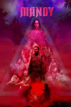 Directed by Panos Cosmatos. With Nicolas Cage, Andrea Riseborough, Linus Roache, Ned Dennehy. Mandy is set in the primal wilderness of 1983 where Red Miller, a broken and haunted man hunts an unhinged religious sect who slaughtered the love of his life. 2018 Movies, New Movies, Movies To Watch, Good Movies, Movies Online, Movies Free, Free Films, Film Watch, Latest Movies
