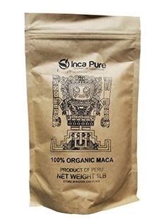 Inca Pure Organic Maca Powder - Harvested in Peru 100% Fresh Superfood - Fair Trade, JAS, Kosher, and USDA Organic Certified, 1lb. Fresh Seal Bag, 5g Serving >>> Want additional info? Click on the image.