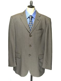 Burberry London Bond Street Tan Wool Blazer Suit Jacket Sport Coat Men 40R 40 R #Burberry #ThreeButton