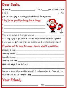 "Everyday is a ""Hollyday""!: Letter To Santa"