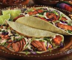 chili lime salmon tacos, made with canned salmon....easy !!