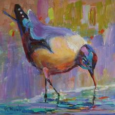 FAT AND SASSY SEAGULL, painting by artist Elizabeth Blaylock