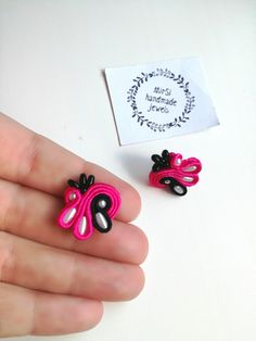Mini soutache earrings