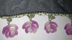 Rose Oya Pattern free. Tutorial per oya armeno: Bella decorazione primaverile per stola!