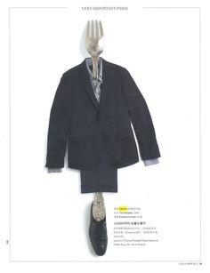 CERRUTI 1881 : Navy Blue Costume     L'Officiel de la Mode - Avril 2013