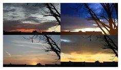 four skies, one window