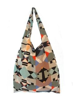 Shopper Tote in Geo Aztec — Pink Mascara