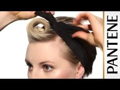 Hairstyles for Short Hair: Pompadour Pin-up Pixie Cut - YouTube