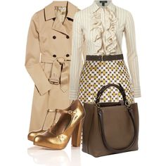 I like the buttoned up goody goody with gold lame heels :)