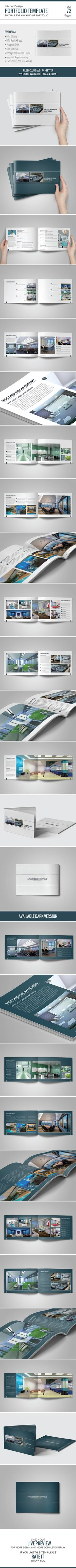 Interior Design Portfolio Template on Behance