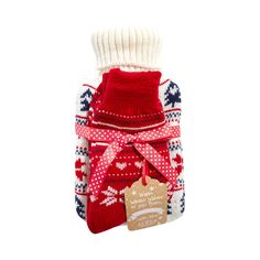 This hot water bottle from Lounge & Sleep comes with a pair of cozy festively designed slipper socks. Perfect for a gift or stocking filler this Christmas, sure to go down a treat in those cold winter months.