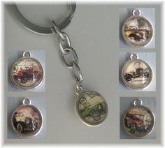 Schlüsselanhänger - Schlüsselring Anhänger beidseitig Oldtimer Auswahl - ein Designerstück von die-deko-werkstatt bei DaWanda