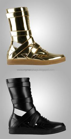 Givenchy.  I'd rock em... Even if it made me look like a kook.  Love the silhouette