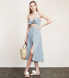 Reformation Riley Dress ($198) in Country