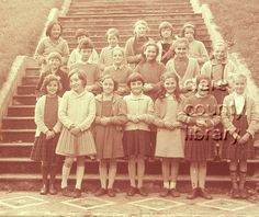 A girls' class attending Ennistymon Convent National School.