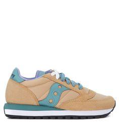 SAUCONY SNEAKER SAUCONY JAZZ IN SUEDE E NYLON BEIGE. #saucony #shoes #